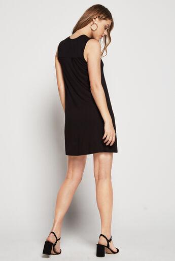 Sleeveless Back Yoke Dress