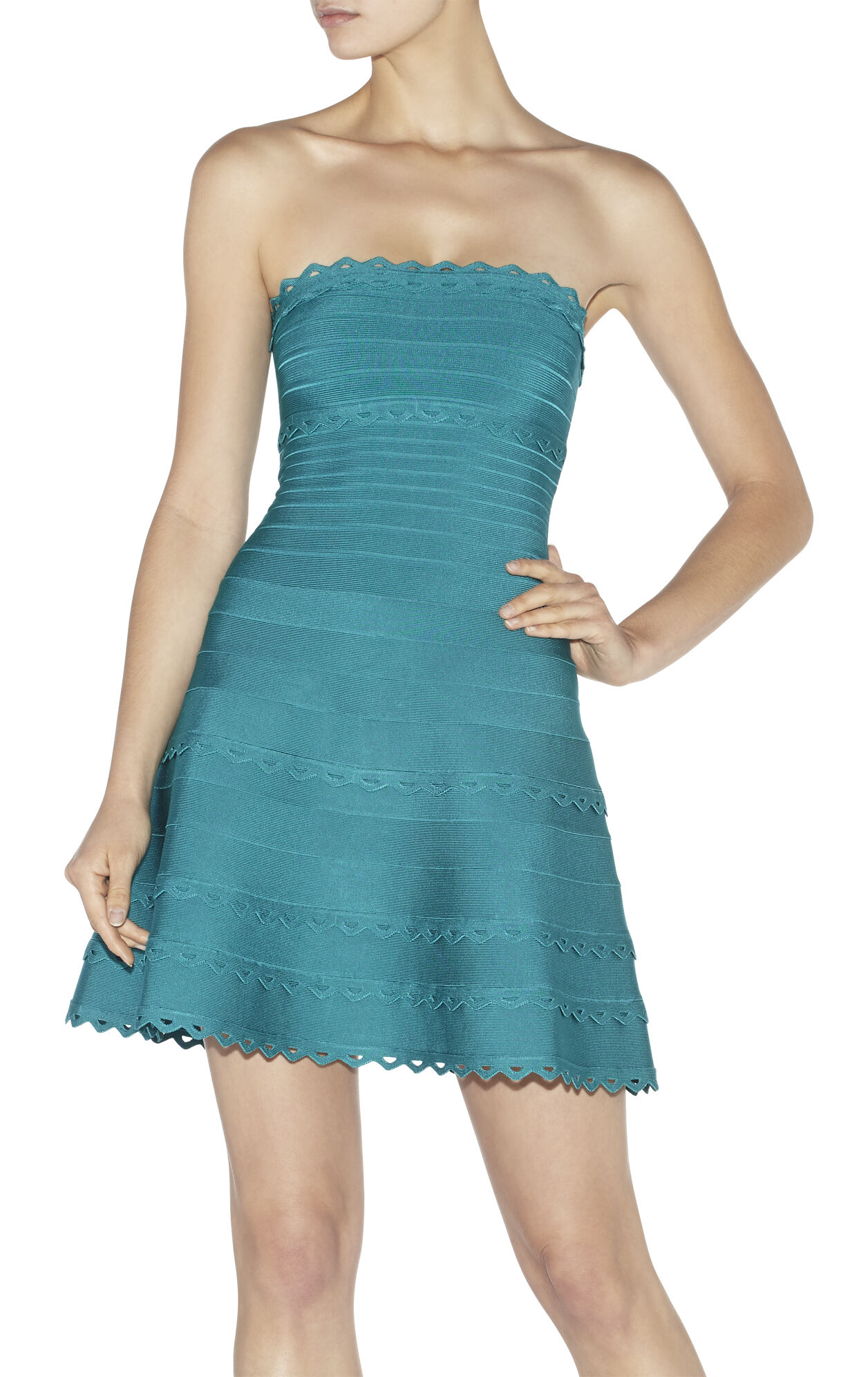 Katilyn Cutout Scalloped Dress