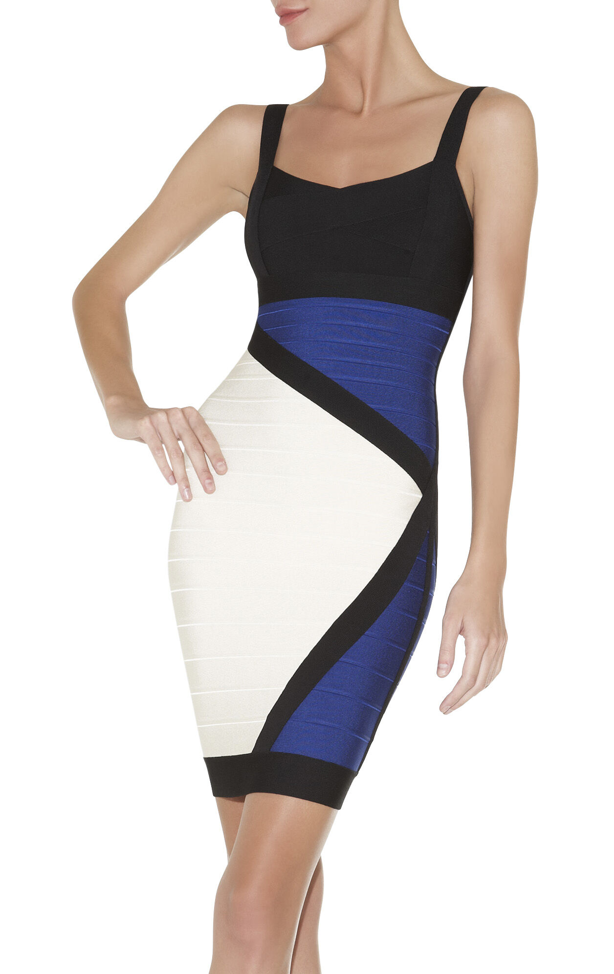 Reona Colorblocked Bandage Dress