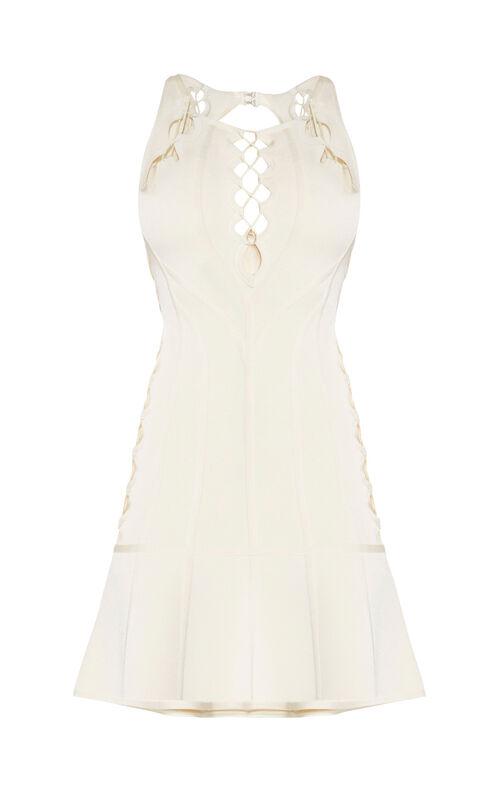 Audra Scalloped Lace Cutout Dress