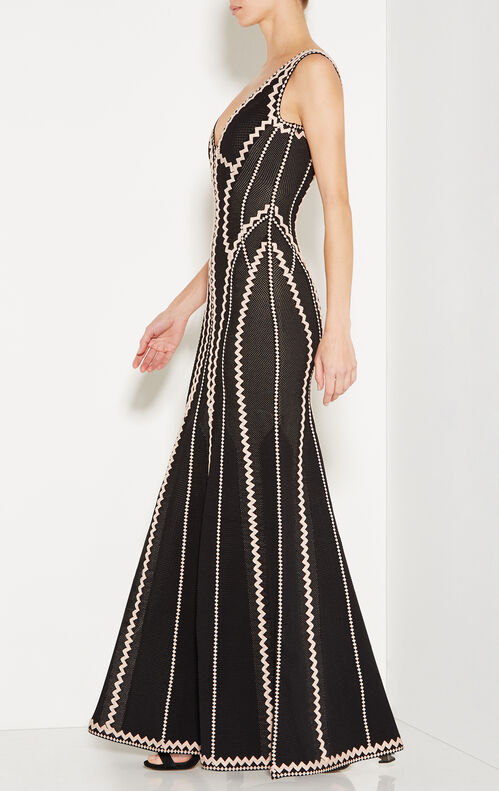 Lineisey Zigzag Pointelle Knit Gown