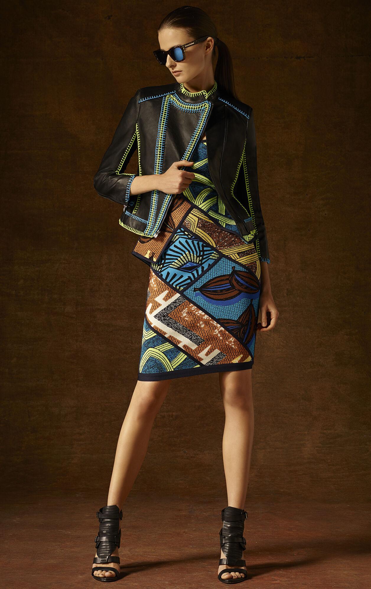 Aron Tribal Jacquard Peplum Dress