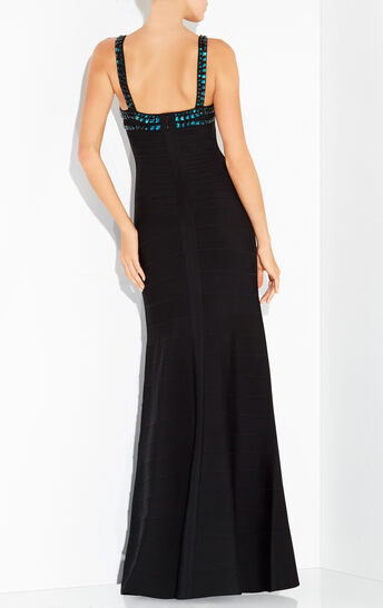 Phelicia Stacked Sequin and Bead Gown