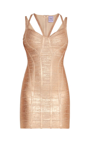 Celestia Woodgrain Foil Print Dress