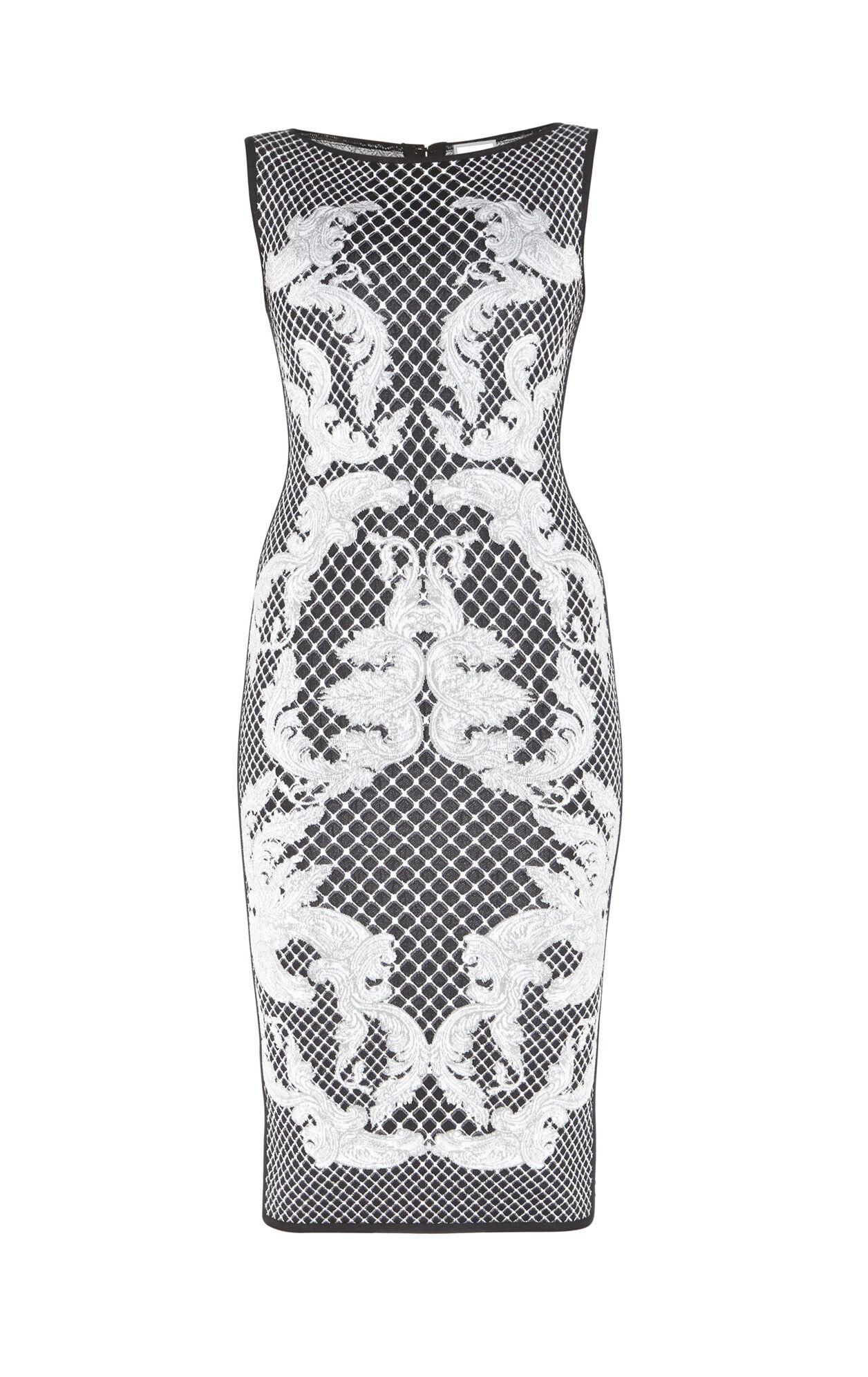 Alexia HL Monogram Crescent Jacquard Dress