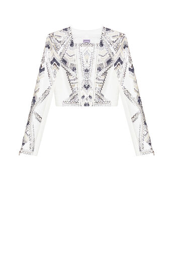 Sabana Embellished Pleather Jacket