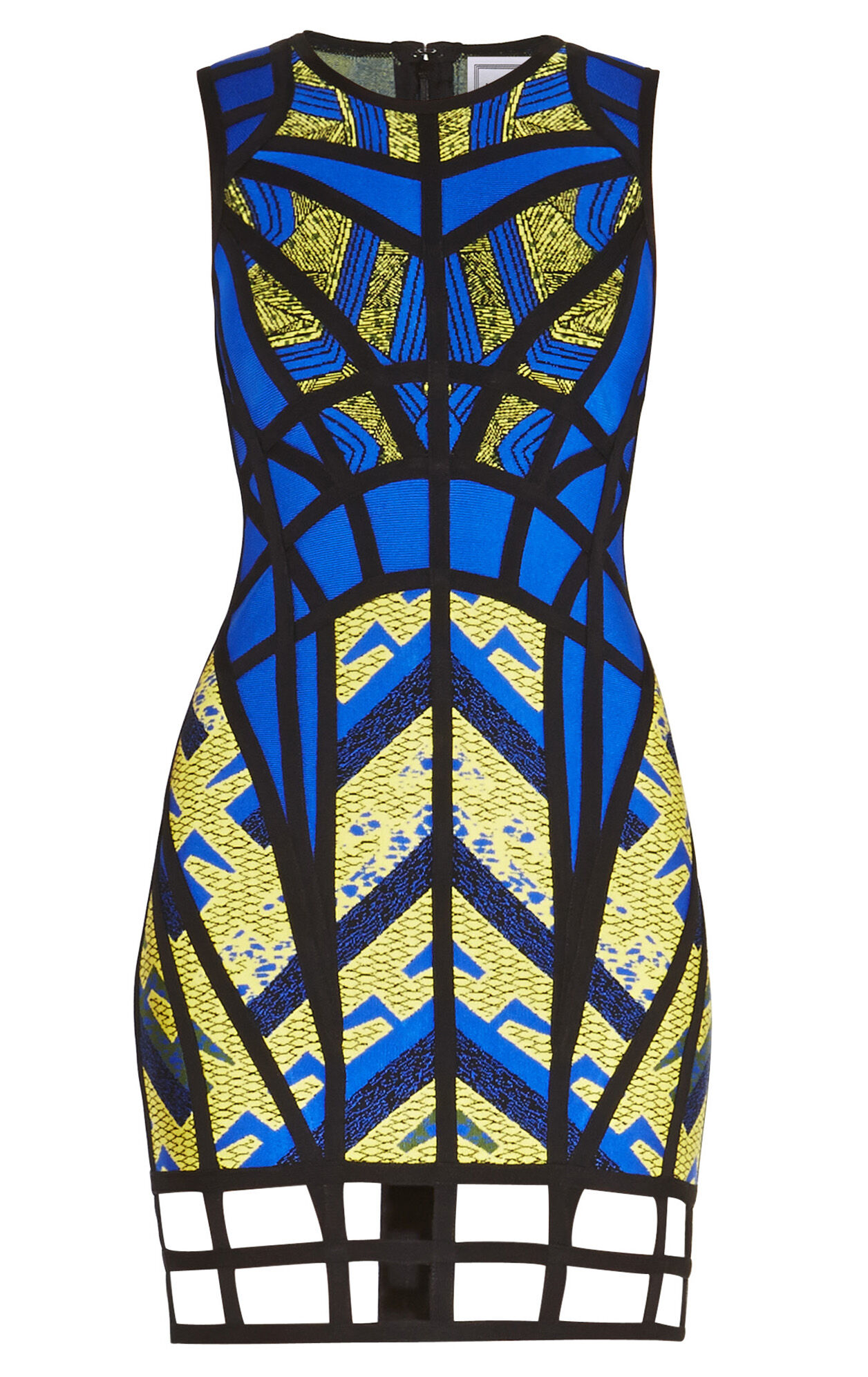 Karmelle Tribal Jacquard Cutout Dress