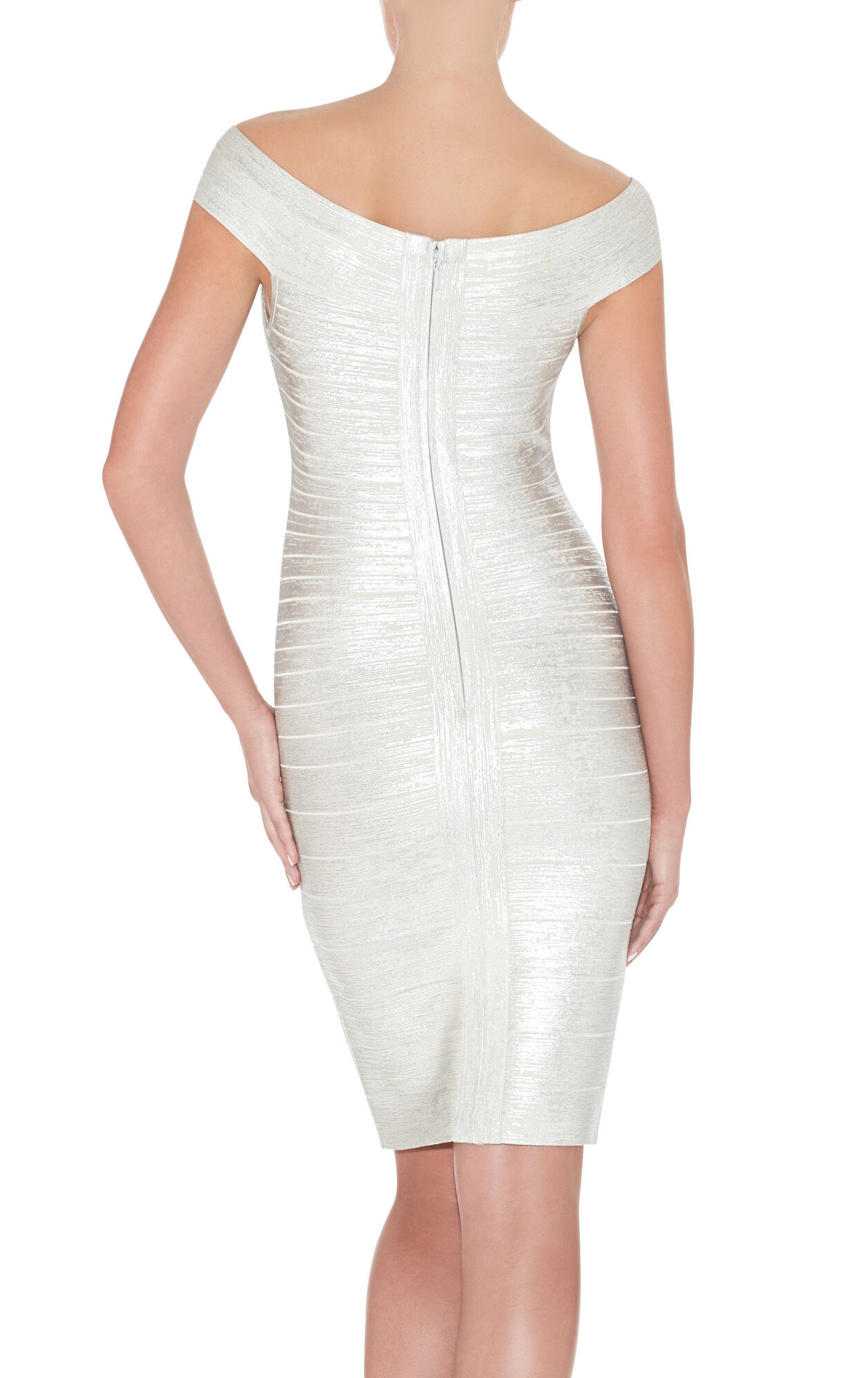 Bridget Woodgrain Foil-Print Dress