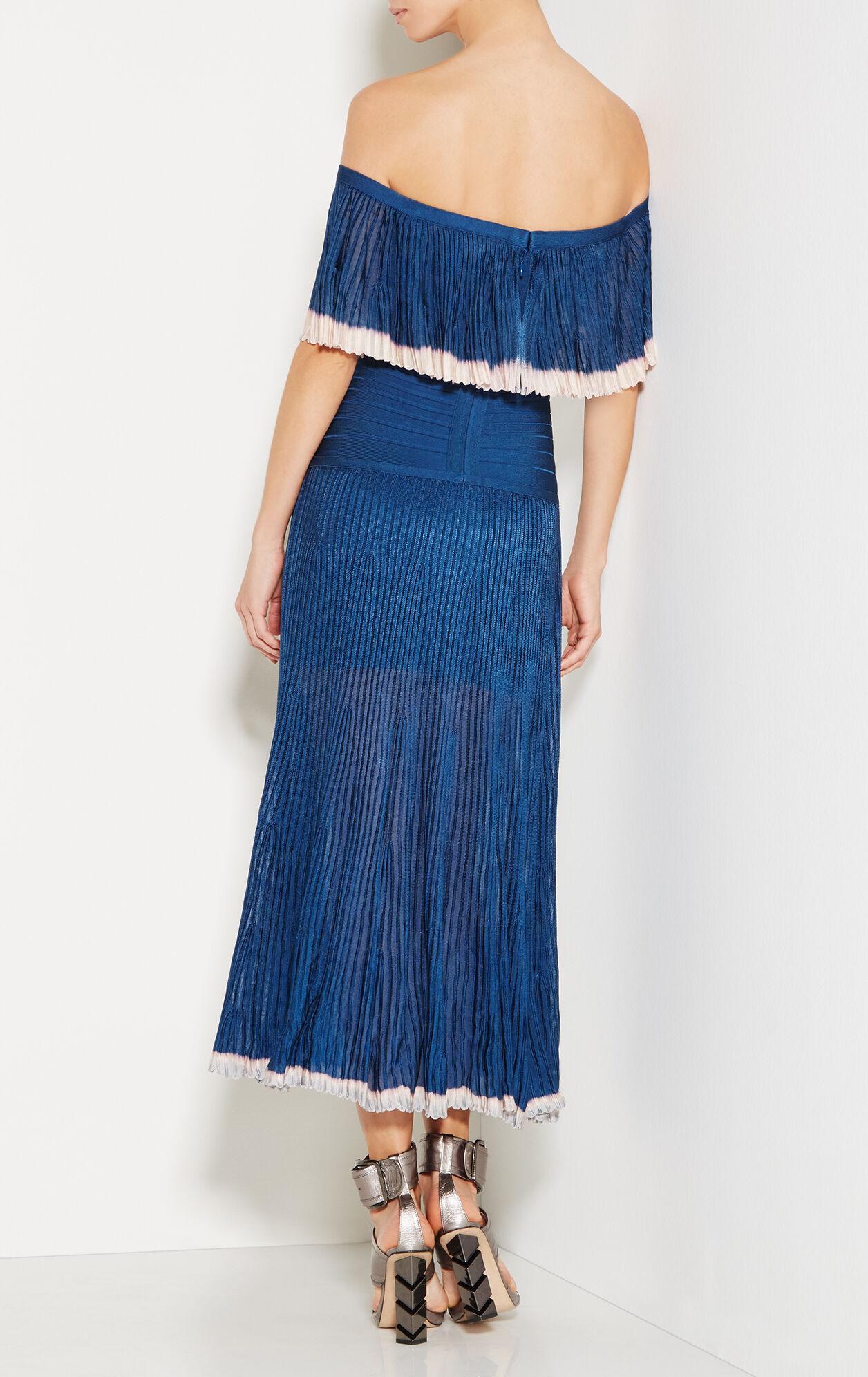 Malli Off-Shoulder Pointelle Trim Midi Dress