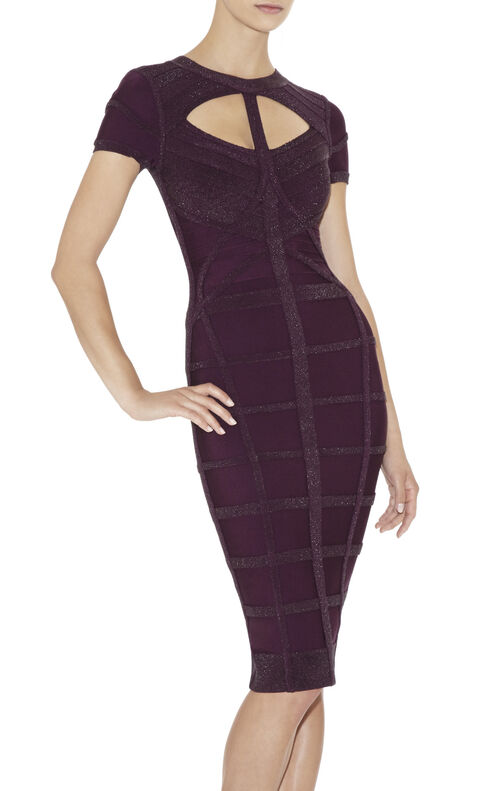 Silva Multitexture Cutout Dress