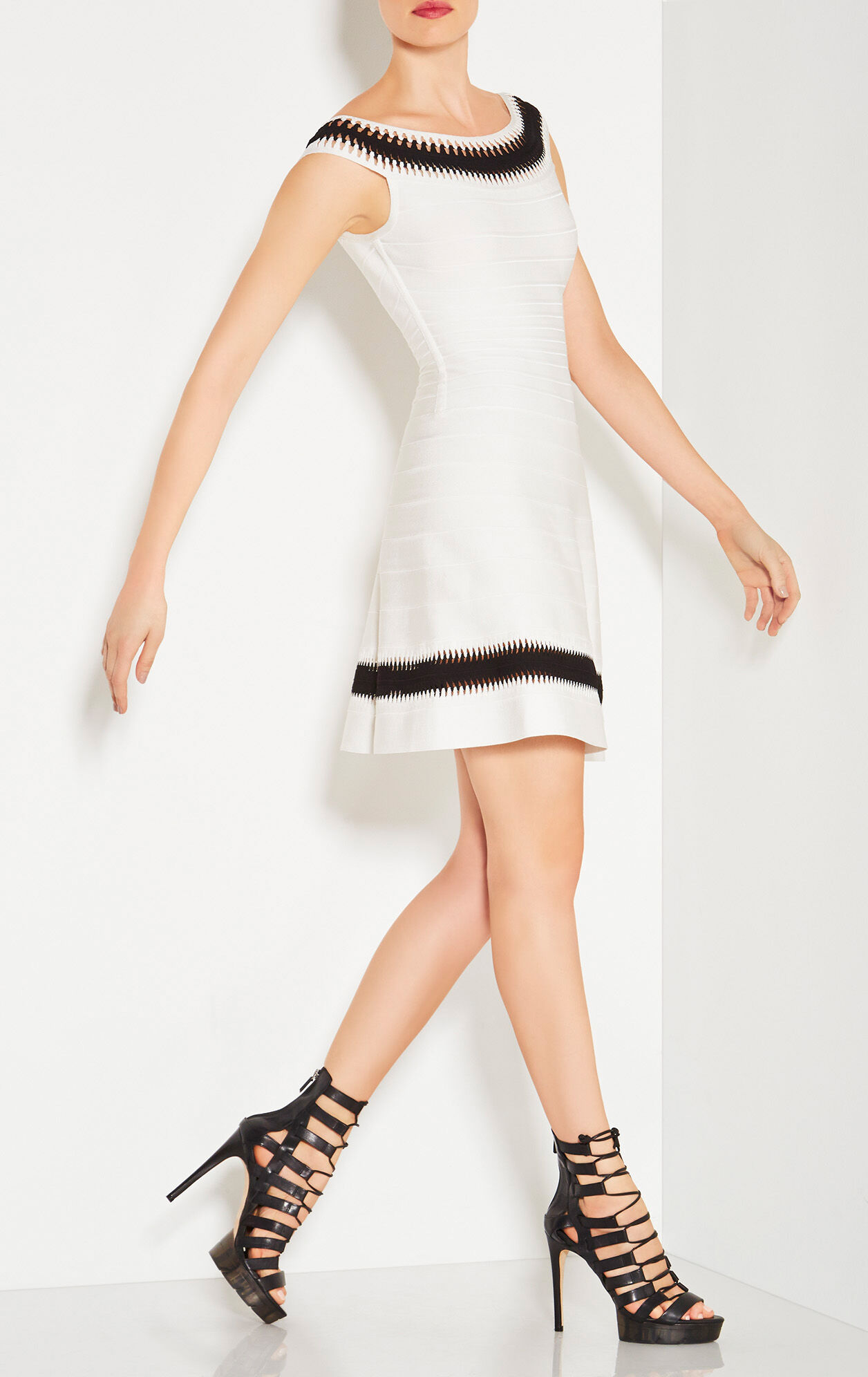 Zoe Zigzag Cutout Detail Dress