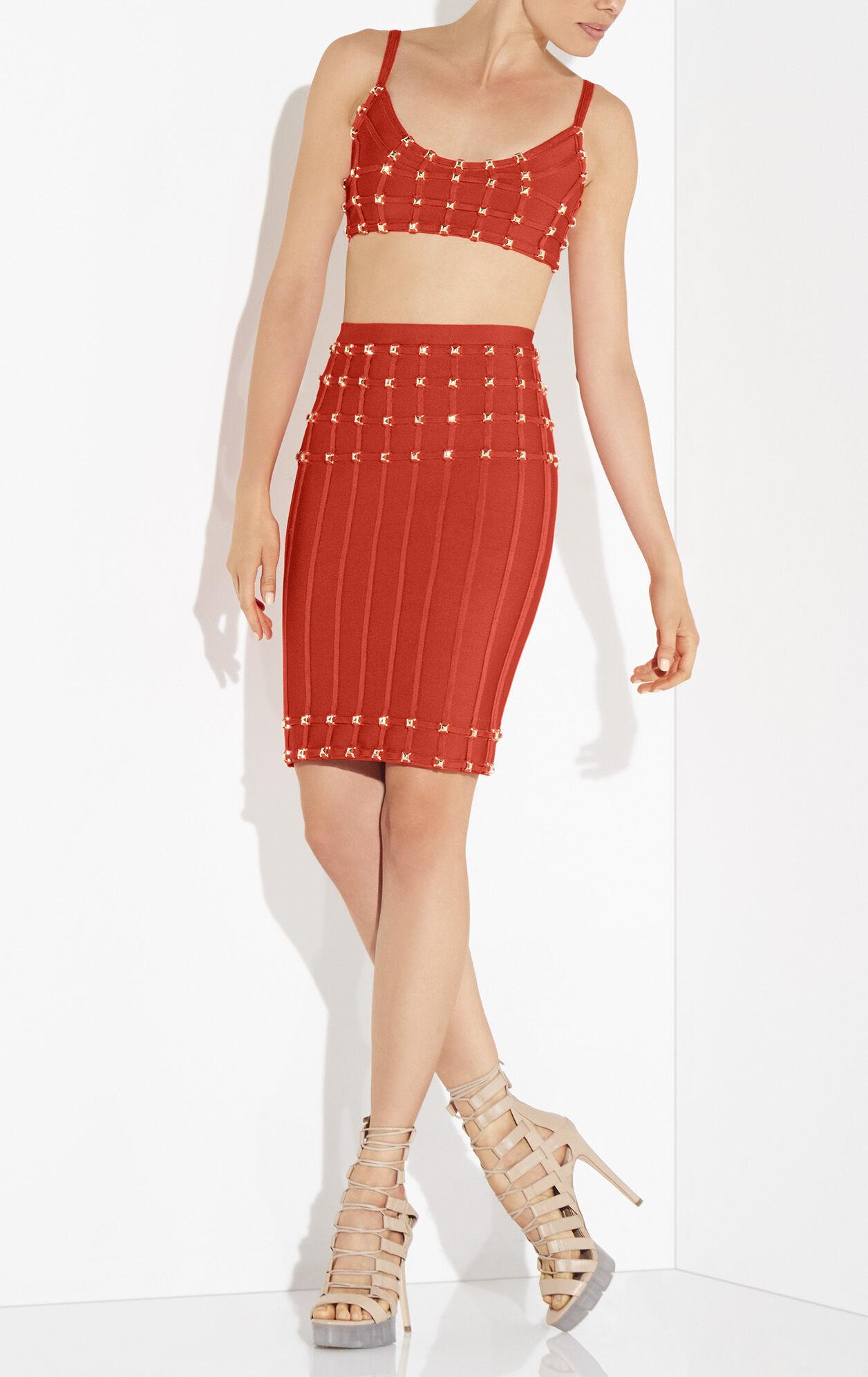Lena Studded Asymmetrical Crop Top