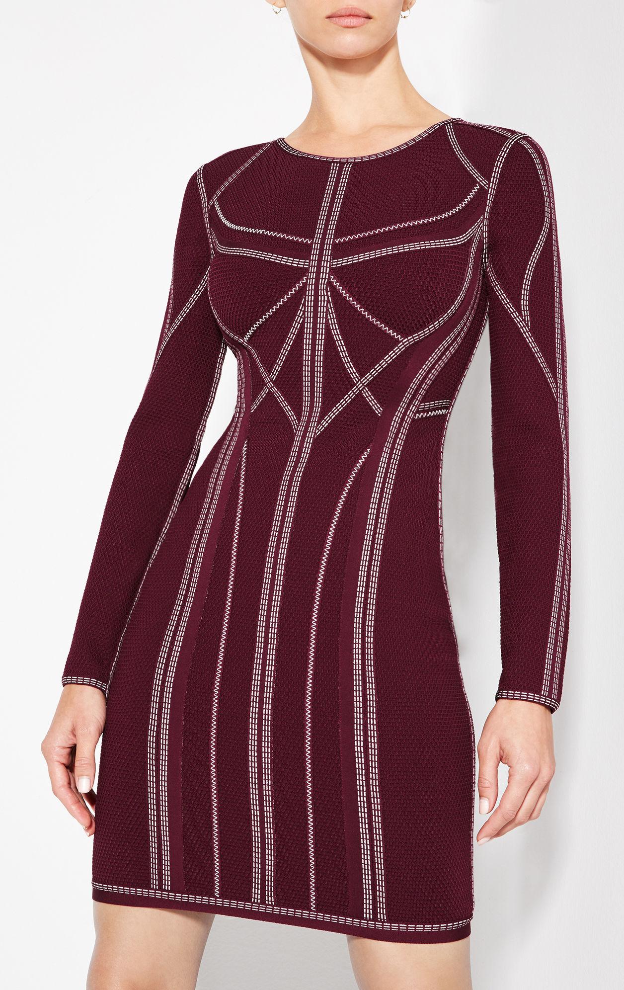 Elaina Metallic Stitch Dress