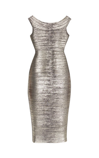 Ardell Woodgrain Foil Print Dress