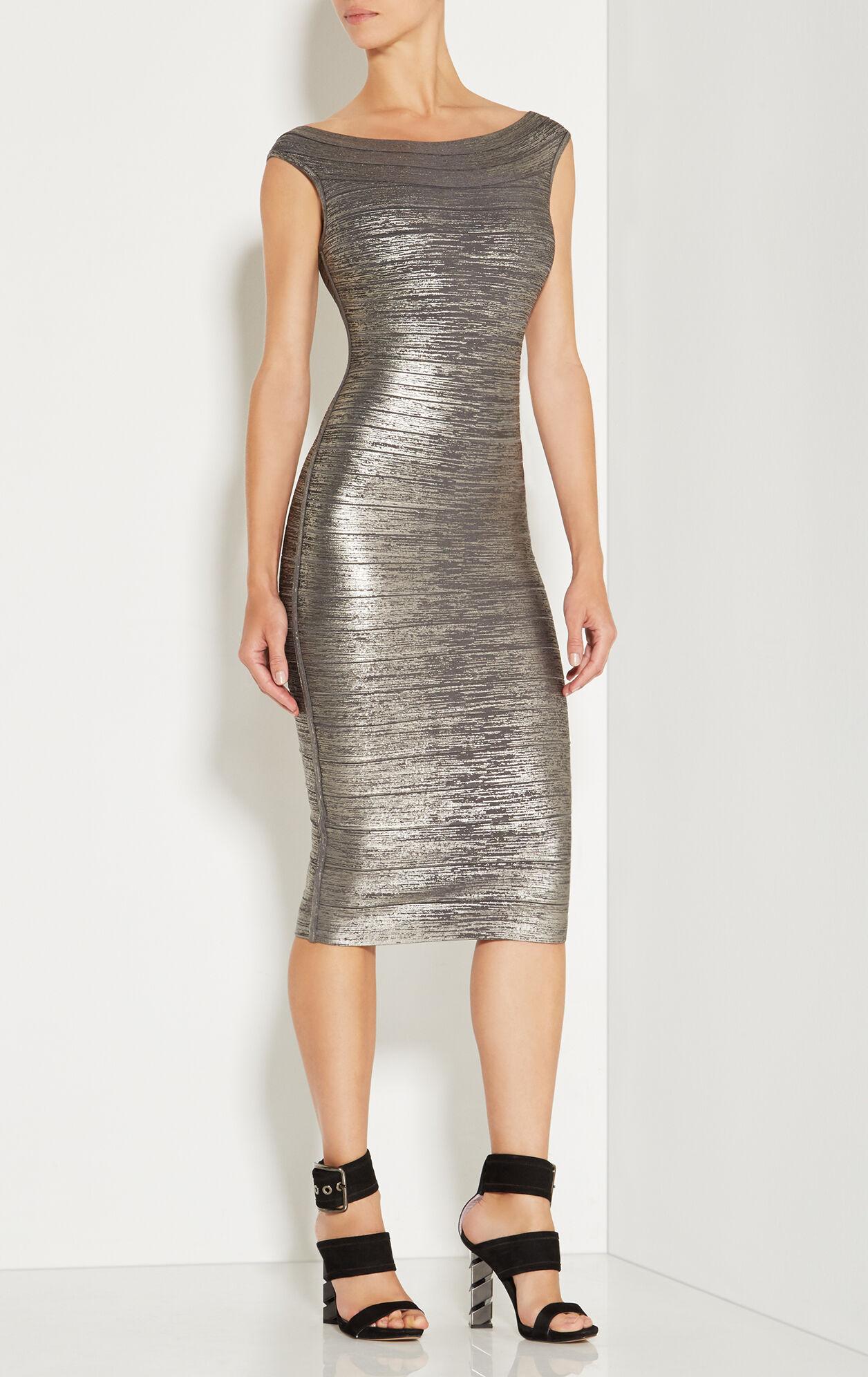 Ardell Woodgrain Foil Print Dress