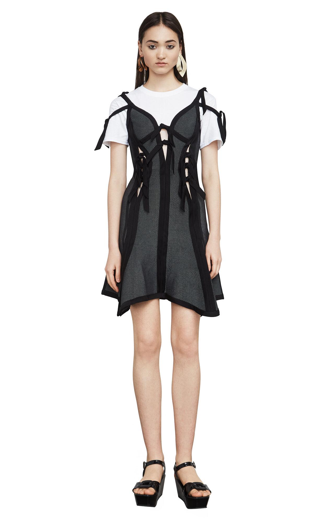 Abby Textured Jacquard Dress