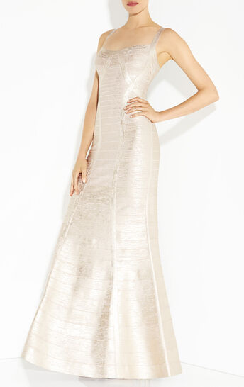 Jesephina Woodgrain Foil Printed Dress