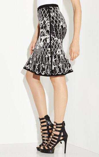 Marielle Caged Animal Print Jacquard Skirt
