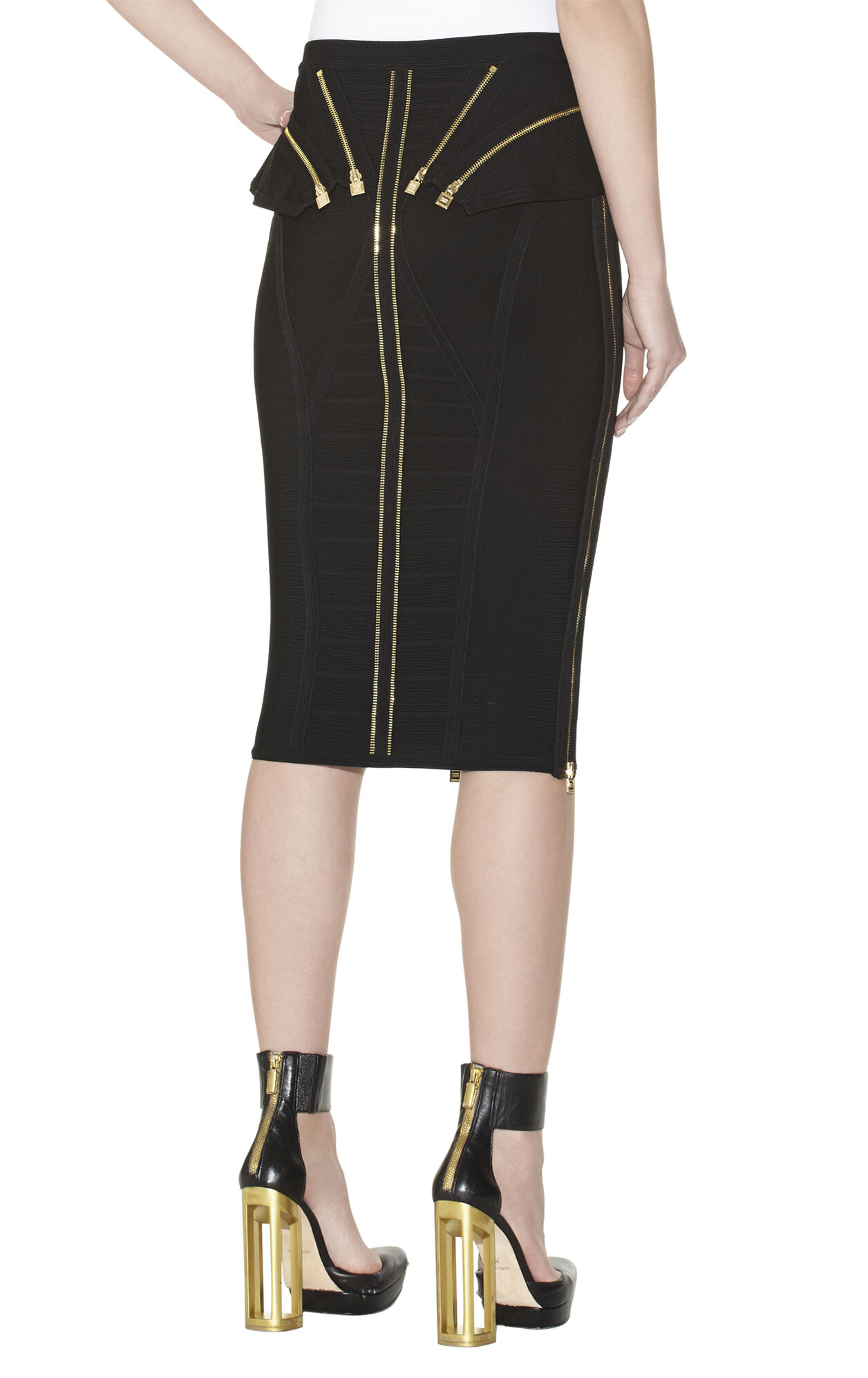 Oxana Zipper-Detailed Skirt