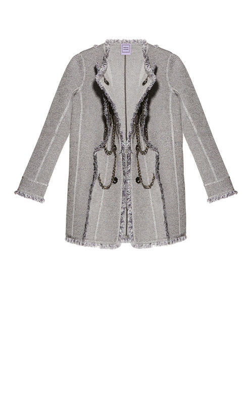 Leandra Fringe Long Jacket