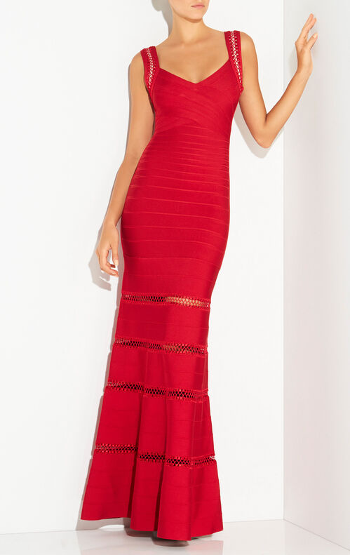 Rilla Crochet Cage Stitch Gown