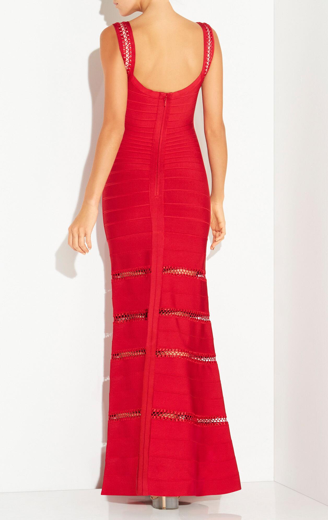 Rilla Crochet Cage Stitch Gown