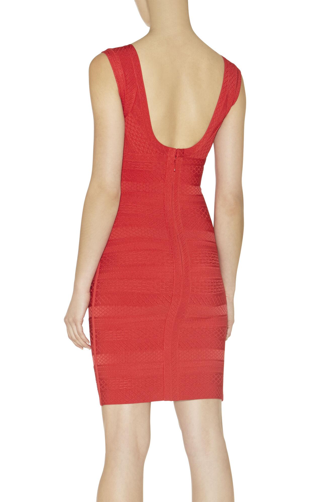 Karima Embossed-Texture Dress