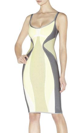 Anouk Colorblocked Puffa-Print Dress
