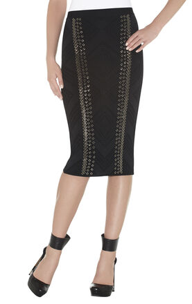 Raven Engineered Textured Beading Skirt