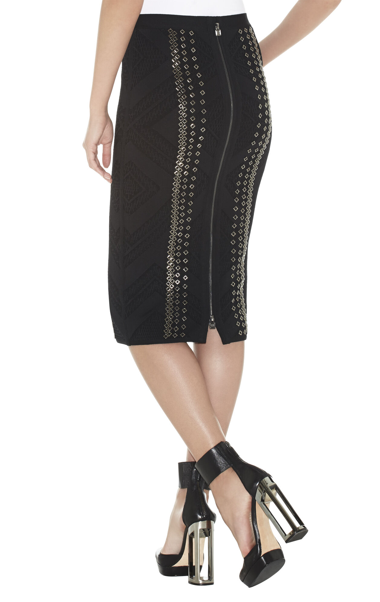 Raven Engineered Textured Beading Skirt