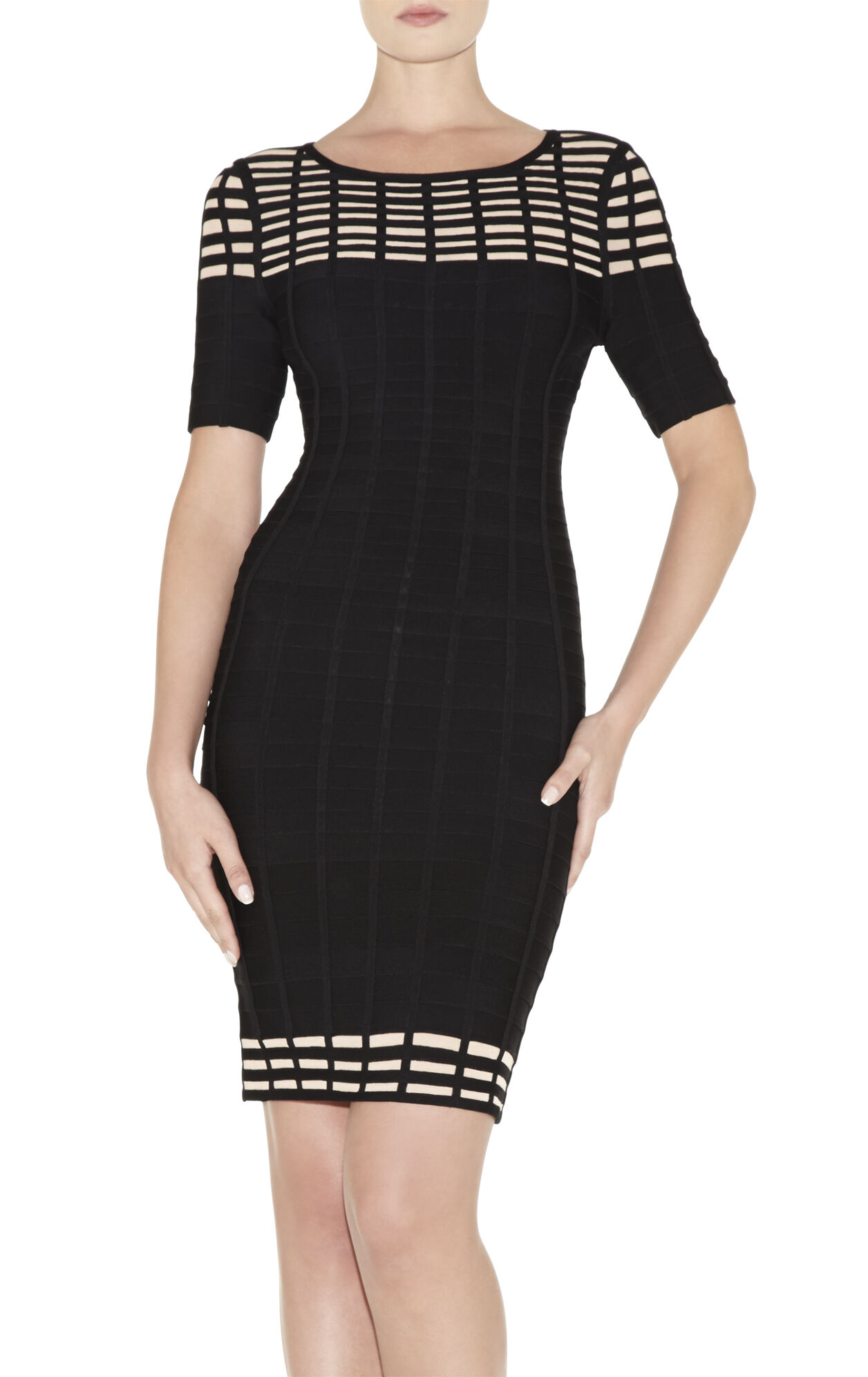 Gisele Grid Bandage Dress