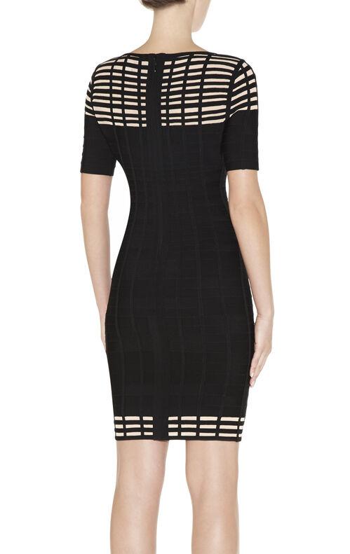 Gisele Grid Bandage Dress