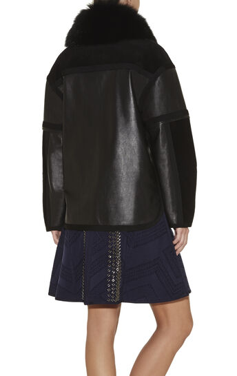Spencer Fox-Collar Oversized Suede Jacket