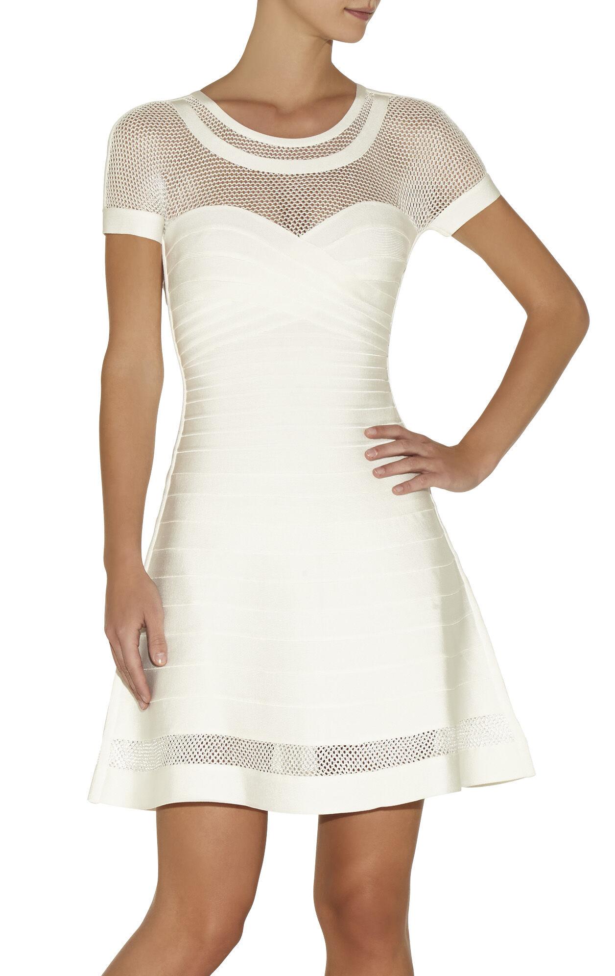 Agyness Multi Stitch Crochet Detail Dress