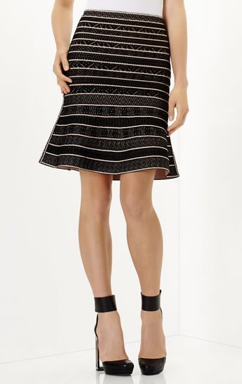 Telma Multi Chevron Textured Tipping Skirt