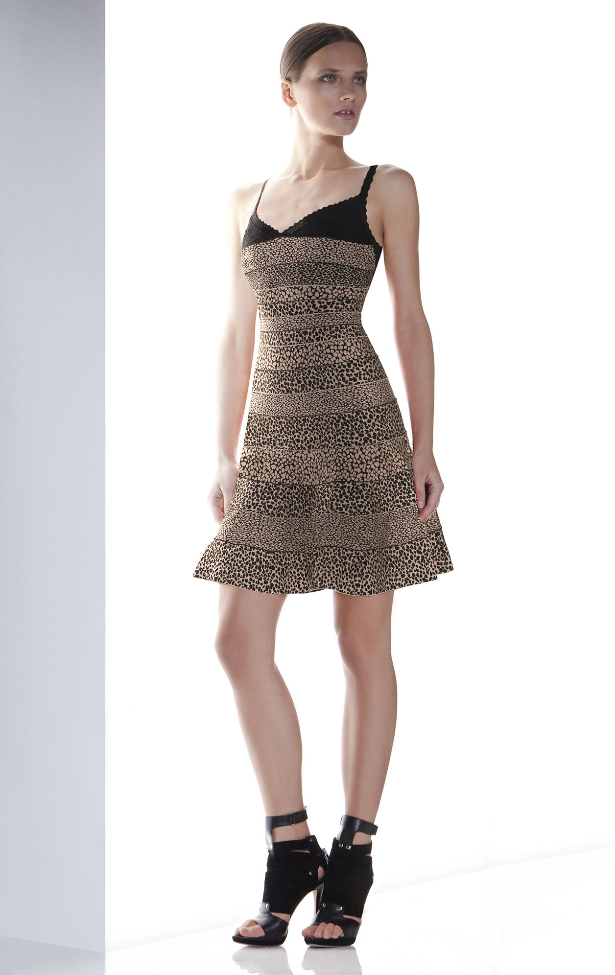 NELL A-LINE BANDAGE DRESS