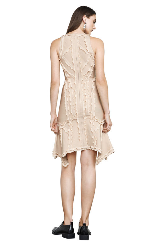Kauri Ruffled-Trim Body-Con Dress