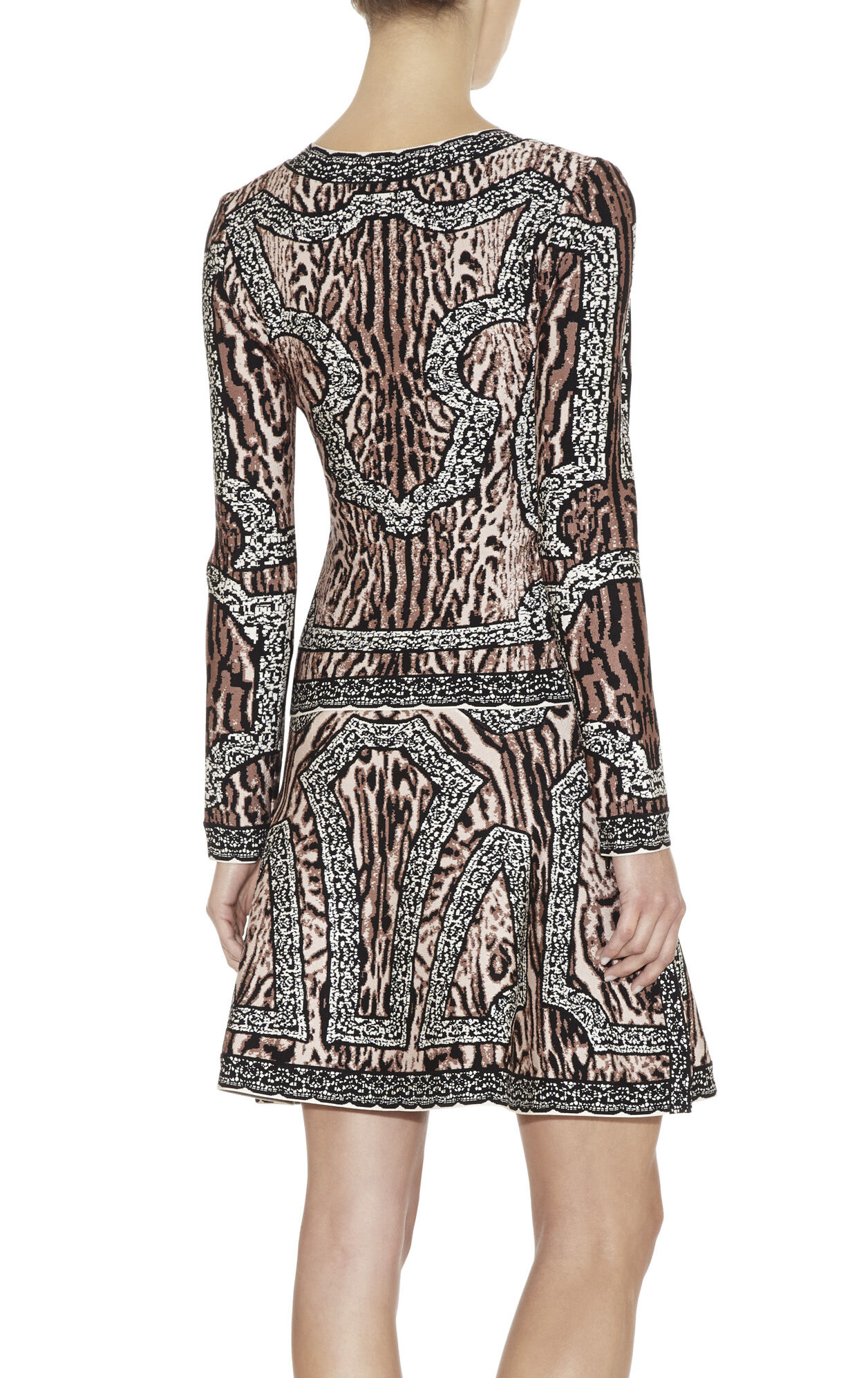 Theron Ocelot and Antique-Lace Jacquard Jacket