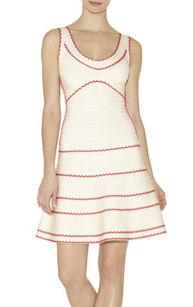 Hanah Tipped Scalloped-Edge Dress