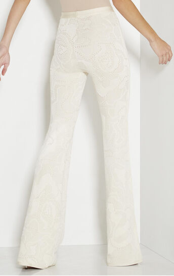 Tessa Rose Multi-Texture Plaited Jacquard Flare Pant