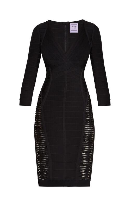 Gaia Metallic Twist Bandage Dress