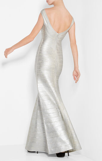 Sophia Metallic Foil Mermaid Gown