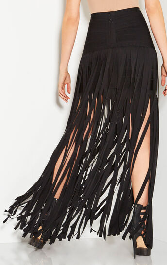 Margarida Draped Bandage Skirt