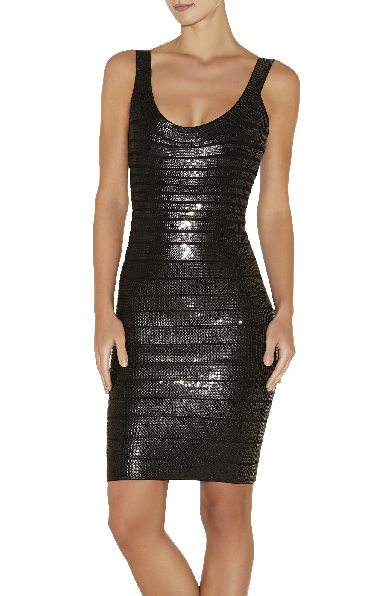 Lilykate Stacked Leather Sequined Dress