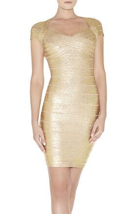 Tejana Woodgrain Foil-Print Dress