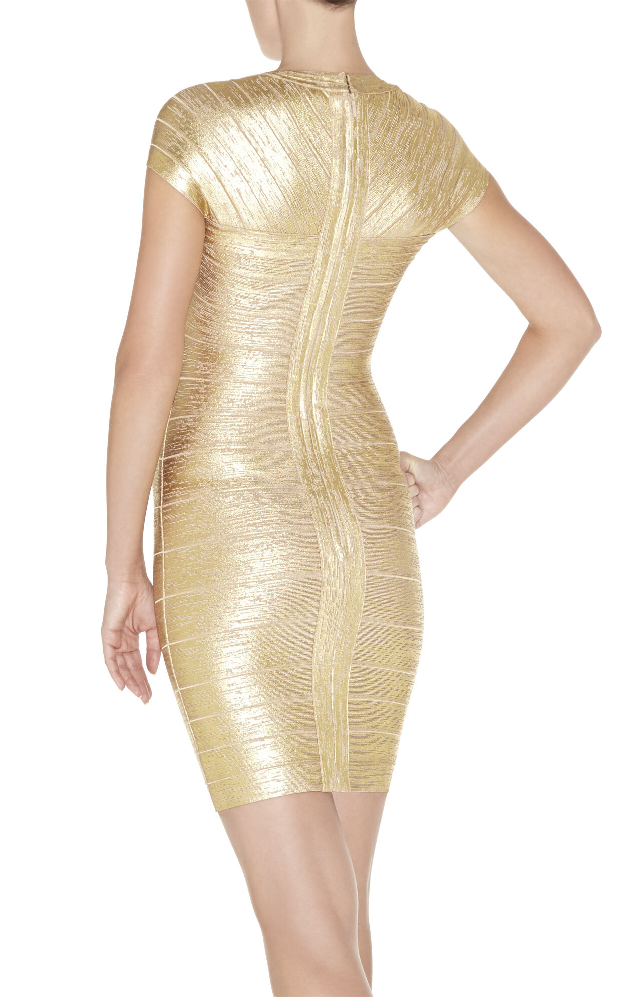 Tejana Woodgrain Foil-Print Dress