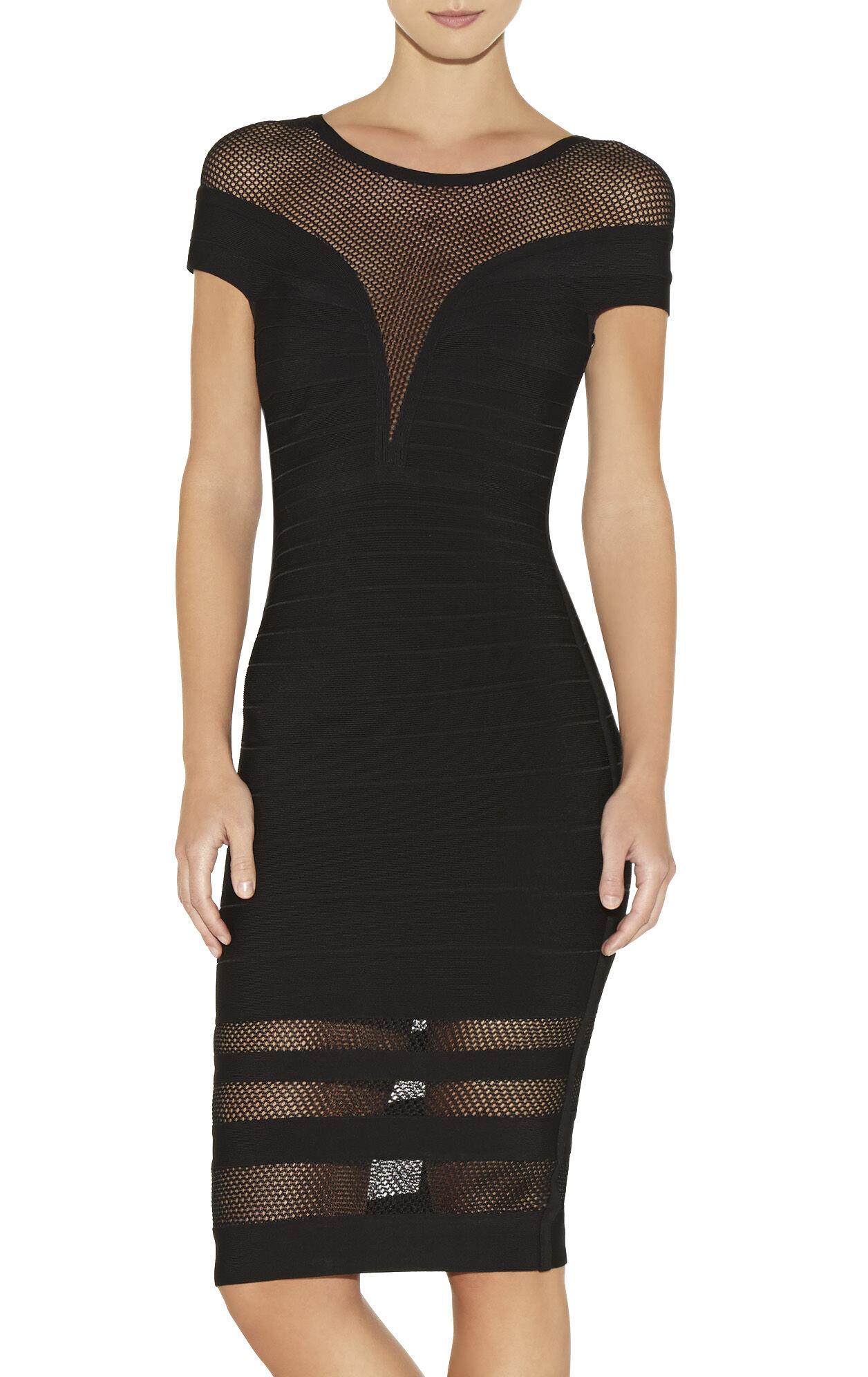 Katrina Multi Stitch Crochet Detail Dress