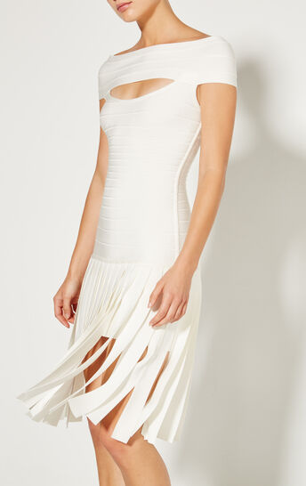 Myra Wide Fringe Detail Dress
