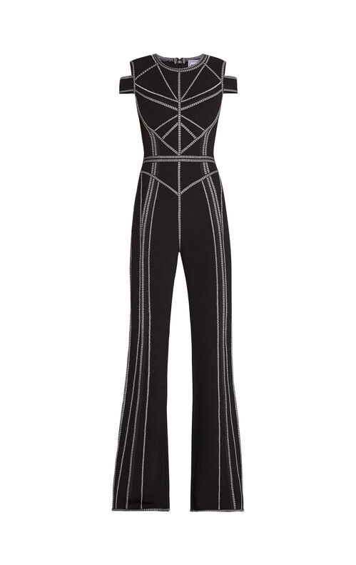Izabella Metallic Stitch Jumpsuit