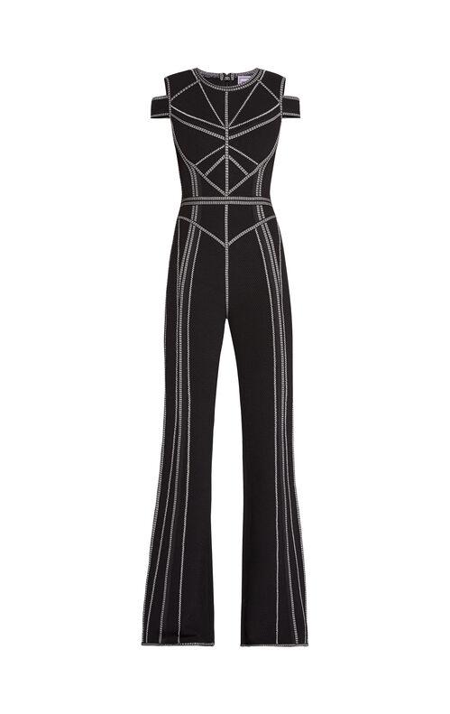 Izabella Metallic Stitch Jumpsuit